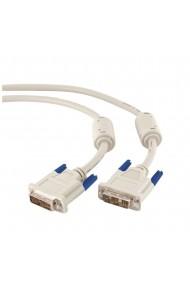 Cablu monitor DVI-D / DVI-D single link Full HD Migros 1.8 m alb