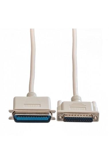 Cablu adaptor paralel D-SUB DB25 ST - C36 ST Migros 3 m alb