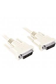 Cablu monitor DVI-D / DVI-D DVI ST-ST dual link Full HD+ Migros 1.8 m alb