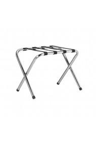 Suport pentru bagaje stand hotel pentru trolere pliabil Relaxdays metal 59.5 x 44 x 41 cm argintiu