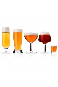 Set 10 pahare degustare bere Vacu Vin 2 x 300 ml 2 x 270 ml 2 x 250 ml 2 x 230 ml 2 x 40 ml + foaie notite sticla transparent