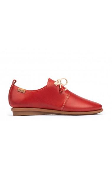 Pantofi casual cu siret Pikolinos Calabria W9K-4985 coral