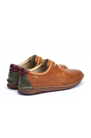 Pantofi casual barbatesti din piele naturala Navas M7T-4036 Brandy