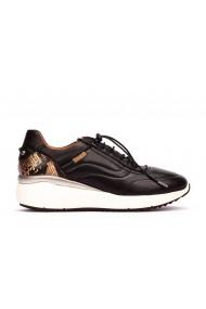 Pantofi dama casual Pikolinos SELLA W6Z-6695C1 piele naturala negri cu print sarpe