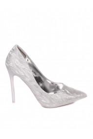 Pantofi stiletto argintii Paolo Botticelli 3M-21037