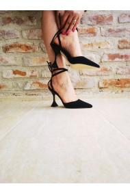 Pantofi eleganti negri cu strasuri Paolo Botticelli 3M-21031