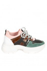 Pantofi casual sport dama din piele naturala verde Paolo Botticelli 3AT-21264