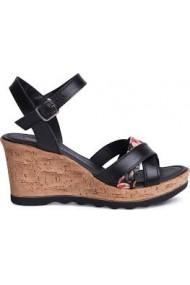 Sandale dama cu platforma din piele naturala S.Oliver 28301
