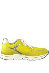 Pantofi sport dama din piele naturala galbena Marco Tozzi 23716