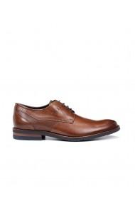 Pantofi eleganti barbatesti  Olympus din piele naturala maro