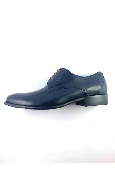 Pantofi eleganti barbatesti din piele naturala albastra