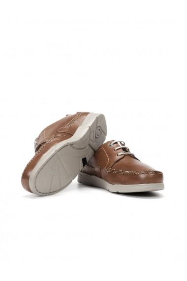 Pantofi casual barbatesti Choi din piele naturala maro
