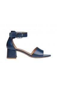 Sandale cu toc REGARDE LE CIEL din piele naturala, Albastre
