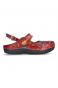 Sandale dama casual piele naturala Laura Vita Bicllyo 07 rouge