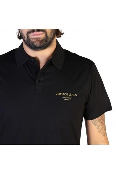 Tricou Versace Jeans B3GTB7P7_36610_899 Negru