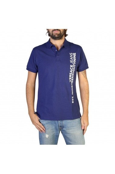 Tricou Versace Jeans B3GTB7P6_36571_221 Albastru