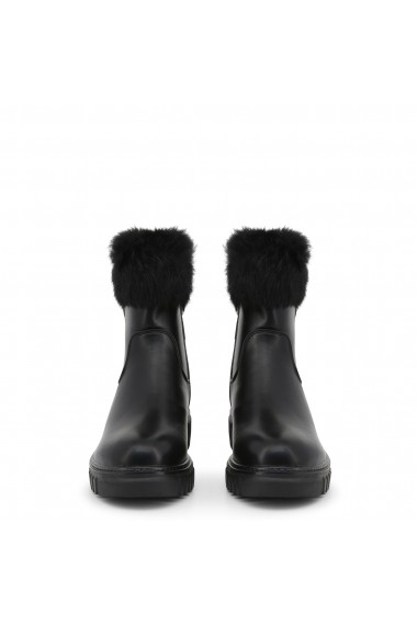 Ghete Laura Biagiotti 5875-19_CALF-FUR_BLACK Negru