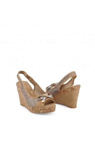 Sandale cu toc Laura Biagiotti 5605_NABUK_SAND Maro - els