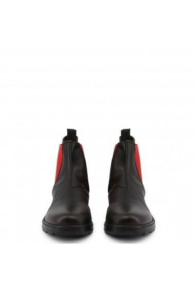 Ghete Docksteps JASPER_6041_BLACK-RED Negru