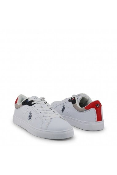 Pantofi sport U.S. Polo ASSN. CURTY4170S9_YH1_WHI-RED Alb