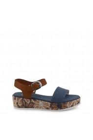 Sandale cu toc U.S. Polo ASSN. JENNA4046S9_CY1_AVIO-BRICK Albastru