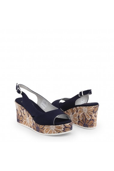 Sandale cu toc U.S. Polo ASSN. DONET4173S9_T1_DKBL Albastru
