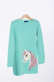 Rochie turcoaz cu unicorn Be You