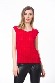 Bluza rosie model ajurat Be You
