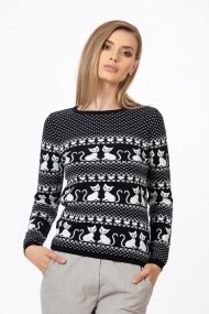Пуловер Be You BYU-0835ngr Черен