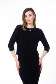 Cardigan negru, tricotat, cu un nasture Be You