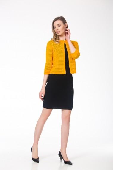 Cardigan galben, tricotat, structura elastica, BE YOU