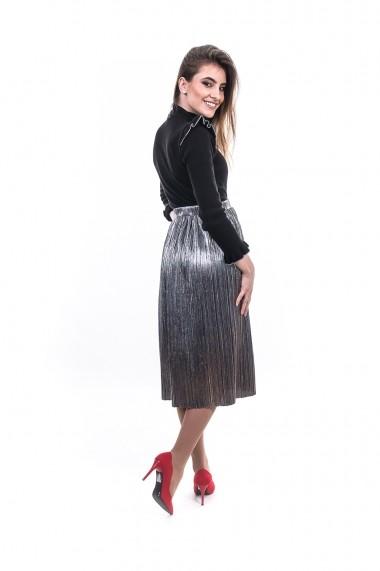 Bluza Carmen Grigoriu cu volane-Negru