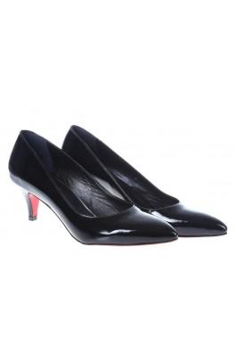 Pantofi cu toc CONDUR by alexandru negri,cu toc mic, din piele