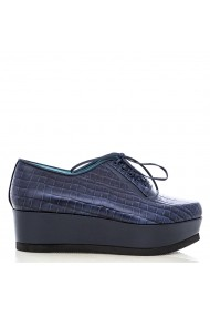 Pantofi CONDUR by alexandru cu imprimeu bleumarin