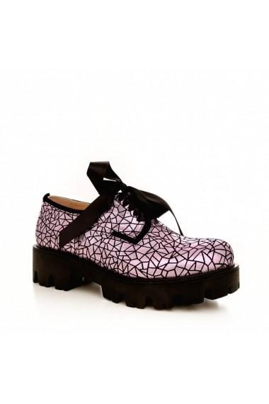 Pantofi CONDUR by alexandru 701 lila sparkling