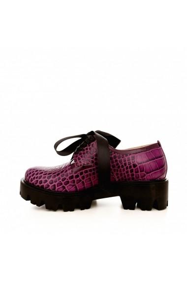Pantofi CONDUR by alexandru 701 mov croco