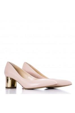 Pantofi cu toc pentru femei marca CONDUR by alexandru nude din piele naturala