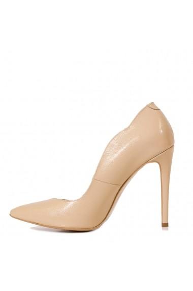Pantofi cu toc CONDUR by alexandru din presaj nude