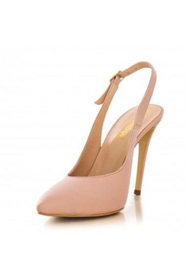 Pantofi cu toc CONDUR by alexandru box nude