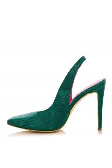 Pantofi cu toc CONDUR by alexandru presaj verde inchis