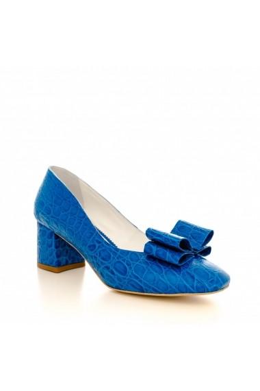 Pantofi cu toc CONDUR by alexandru 1606 croco albastru
