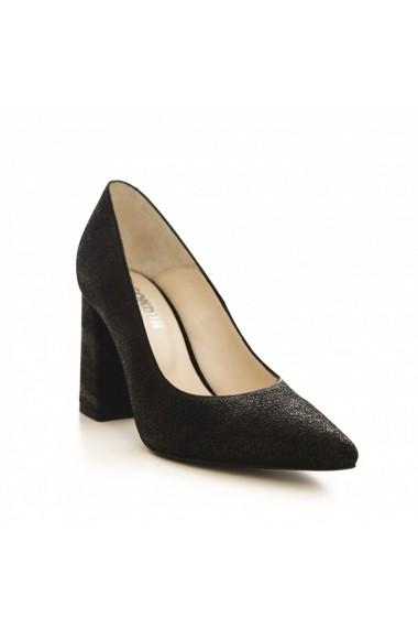 Pantofi cu toc CONDUR by alexandru 1710 negru cher