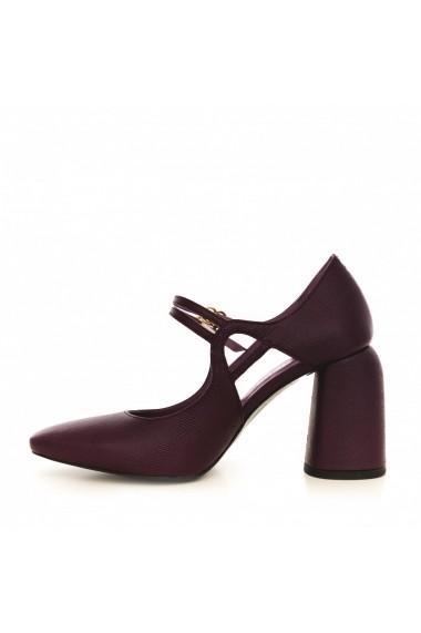 Pantofi cu toc CONDUR by alexandru 1808 mov safiano