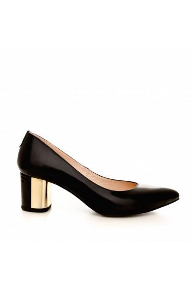 Pantofi cu toc CONDUR by alexandru 1416 negru lac