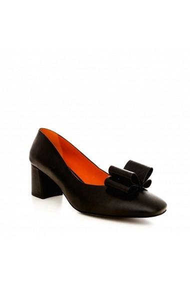Pantofi cu toc CONDUR by alexandru 1606 negru tejus