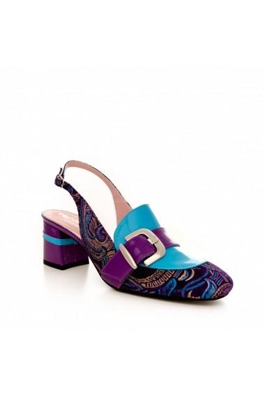 Pantofi cu toc CONDUR by alexandru 1807 bleumarin sal