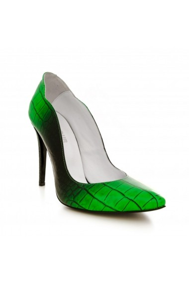 Pantofi cu toc CONDUR by alexandru 1501 verde