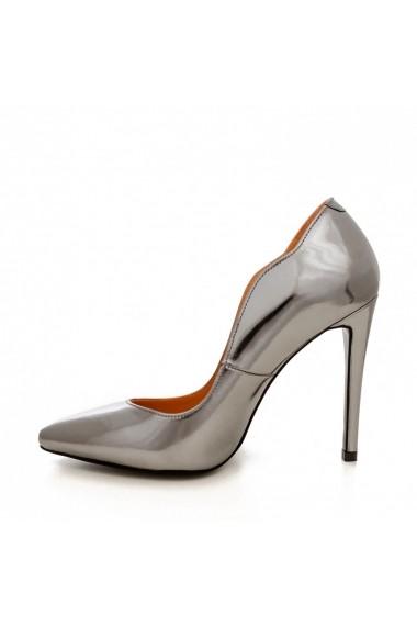 Pantofi cu toc CONDUR by alexandru 1501 antracit