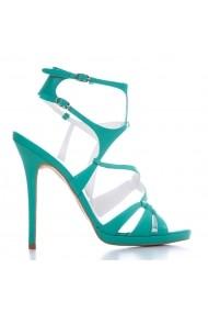 Sandale cu toc CONDUR by alexandru verzi, din piele naturala