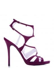 Sandale cu toc CONDUR by alexandru mov saffiano, din piele naturala